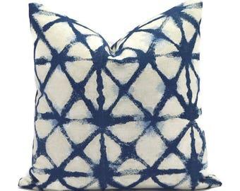 Pillow Covers Decorative Pillows ANY SIZE Pillow Cover Navy Blue Pillow Premier Prints Shibori Denim