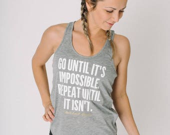 SALE -- Run and Repeat Perfect Racerback Tank  ~  Running Tank