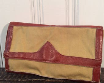 SALE 1980's Gabay Leather Lined Clutch