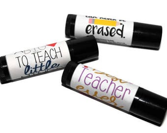 Teacher- Lip Balm- Strawberry Prosecco- Teachers Gift- End of Term- School- Teaching Assistant- Medusa Holistics