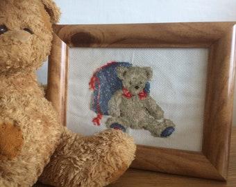 Teddy Bear Cross stitch  - baby shower gift