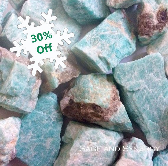 Raw Amazonite, Rough Amazonite, Crystal, Chunk, Mineral, Rough Stone, Meditation, Crystal Healing, Blue Stone, Altar Stone