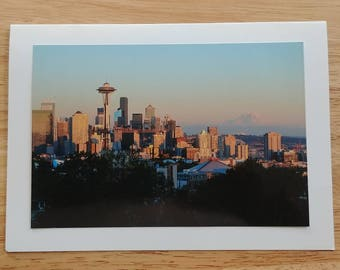 Seattle Skyline from Kerry Park Photo Card
