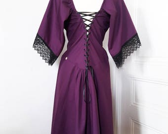 antiquated plum kimono sleeve dress