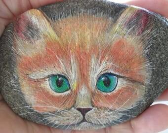 Sweet Face Kitten Rock OOAK