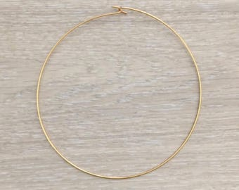 Wire Choker, Gold Choker, Metal Choker, Gold Necklace, 1 pc