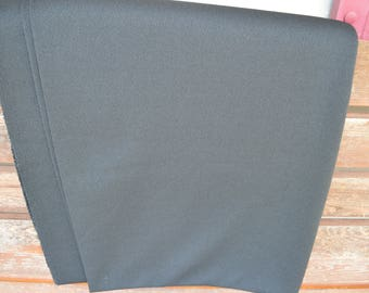 Vintage Black Double Knit Polyester Fabric 2 1/8 Yards