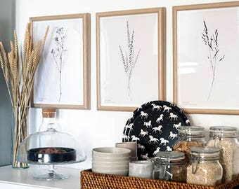 Botanic Wall Art, Boho Decor, Bedroom Wall Art, Modern Minimalist Print, Beautiful Art Print, Nordic Design, Scandinavian Print, Plant Art