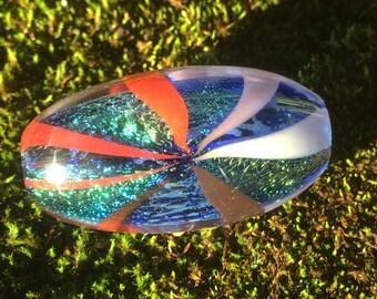Handblown Dichroic Glass Reversal Bead