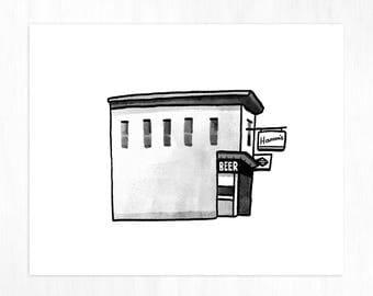 Minneapolis Corner Bar Archival Print
