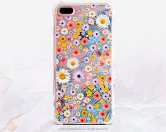 iPhone 7 Case Flower Power GRIP Clear Rubber Case iPhone 7 Plus Clear Case iPhone 6S Case iPhone SE Case Samsung S7 Edge Samsung Case U226