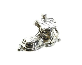 Sterling Silver Opening Old Woman In Shoe Charm For Bracelets