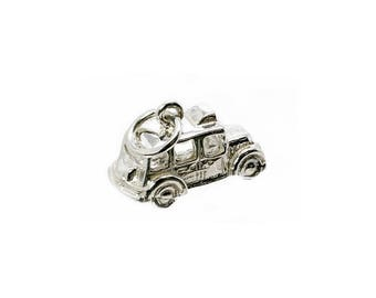 Sterling Silver London Taxi Charm For Bracelets