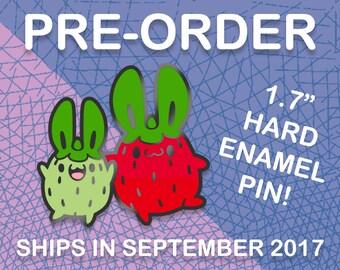 PREORDER: Strawberry Bunny Hard Enamel Pin