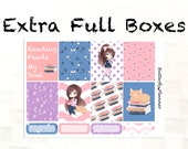 Extra Full Box Stickers for the Erin Condren & Happy Planner, Bookworm Collection, Summer Planner Stickers, Decorative Boxes