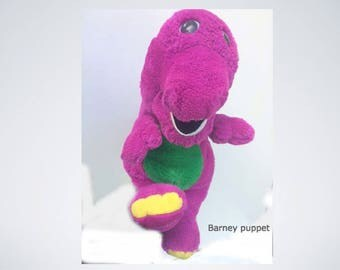Golden Lyons Barney Purple Dinosaur Puppet