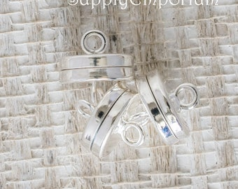 10mm Silver Plated Magnet Clasp, 3 Clasps, Silver Plated 10mm Magnet Clasp, 5175, Silver Magnetic Clasp