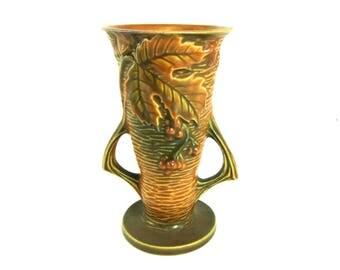 Roseville Bushberry 30-6 1948 vase art pottery