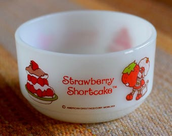 Vintage FireKing Strawberry Shortcake Bowl