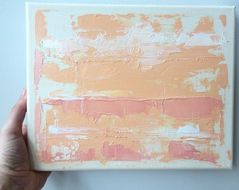 Original Fine Art Abstract Landscape Acrylic Painting Wall Art Surreal 10 x 8 inches Small Canvas