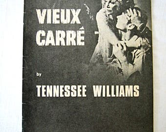 Vintage Vieux Carre by Tennessee Williams Piccadilly Theatre programme 1978