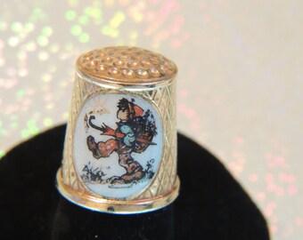 Rare Vintage Gold Thimble MJ Hummel ARS/TCC W. Germany