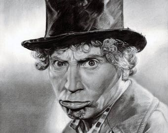 Drawing Print of the Harpo Marx