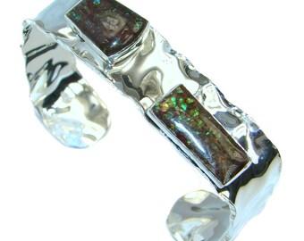 Ammolite Sterling Silver Bracelet - weight 20.60g - dim 5 8 inch - code 18-lis-16-62