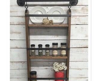ON SALE Wood Kitchen shelf, kitchen shelves, kitchen wall shelf, shelving unit, kitchen shelving, kitchen wall shelves