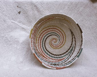 Rainbow African Telephone Wire Bowl Zulu