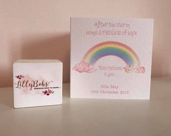 Rainbow Baby Personalised Card