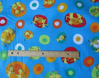 Green Dr Seuss Hop on Pop Character Toss Cotton Fabric by the Yard