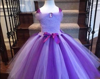 Princess Tutu Dress, Birthday Princess, Purple Tutu Dress, Lavender Tutu Dress, Purple Flower Girl, Purple & Lavender Tutu Dress