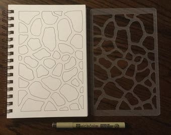 Giraffe Spots Stencil ~ for 5 x 8 Journals