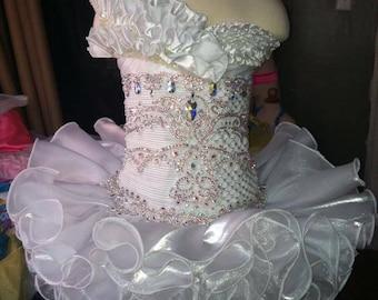 Girls high glitz pageant dress