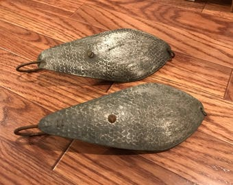 Two Vintage Large Scaled Fishing Spoons