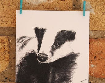 Illustrated Badger Card
