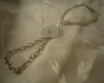 Ankle bracelet set of foot ring foot, and white flower