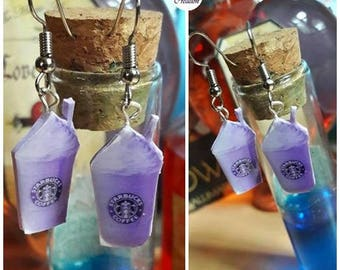 Earrings Purple Frappucino