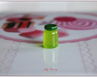 Small jam jar miniature Green 15mm x 1 resin