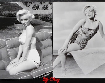 "Postcard style retro vintage women pinup marilyn ""model 1"" x 1"