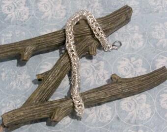 Silver Byzantine Chainmaille Bracelet