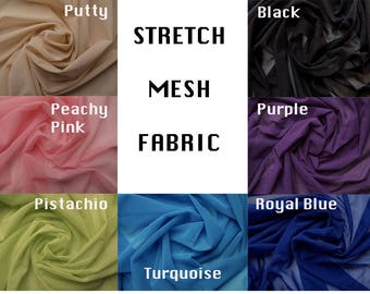 Mesh Fabric Available in 7 Colors