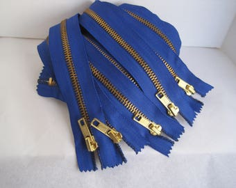 """This Listing is for Five New 24"""" Blue #5-Extra Heavy-Duty Brass Separators-Open Top/Closed Bottom"""
