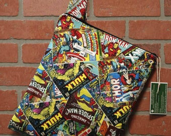 Cloth Diaper Wetbag, Comics, Wolverine, Diaper Pail Liner, Diaper Bag, Day Care Size, Holds 5 Diapers, Size Medium with Handle item #M68