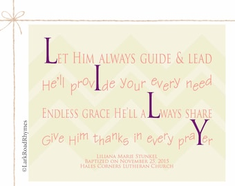 Poems for babies kids families by larkroadrhymes on etsy baptism gift girl goddaughter gifts baby girl christening gift religious baby gift personalized baptism christian nursery negle Choice Image