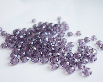 set of 20 faceted 3mm swarovski crystal beads