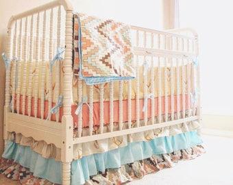 Deluxe 4 Piece Crib Bedding Set