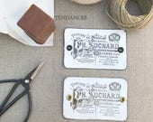 """Etiquettes Metal Rectangulaire Impression Ancienne Plaque  """"Chocolat Suchard"""" 8,5 X 5,5 Cm"""