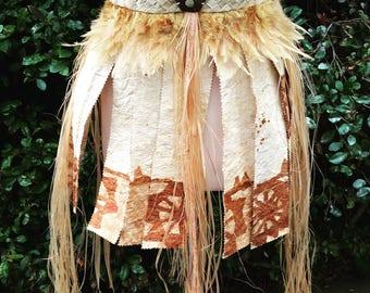 Tapa cloth skirt